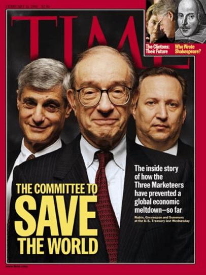 TIME Magazine Cover: Rubin, Greenspan & Summers - Feb. 15, 1999
