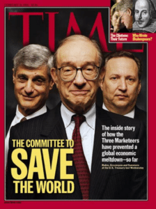 TIME Magazine Cover: Rubin, Greenspan & Summers - Feb. 15, 1999
